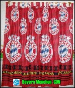 Jual Gorden Motif Bayern Munchen. Pemesanan Melalui Line SMS 0857 9994 3044. Dari Www.pasarsemarang.com  Harga menyesuaikan ukuran yang dipesan.