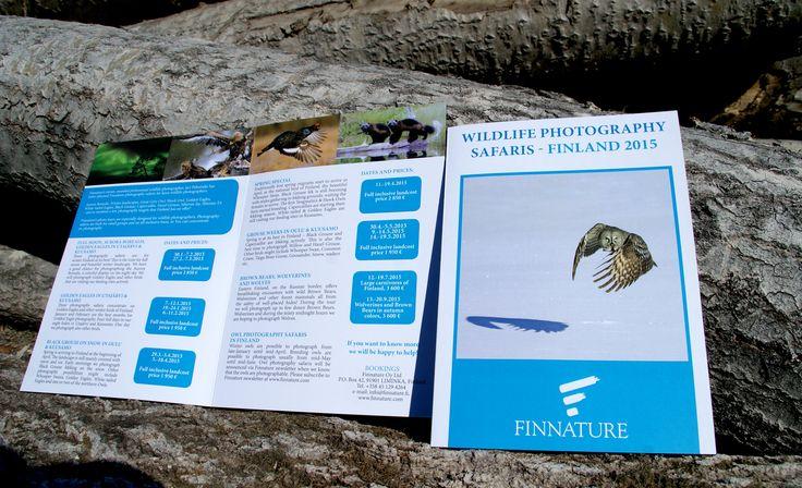 Finnature, esite. Suunnittelu: Heidi Sarjanoja/Valokki Design.