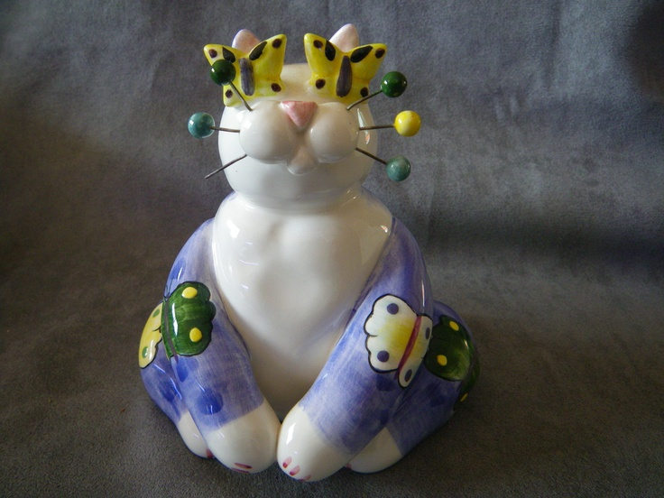 """Amy Lacombe """"Butterfly"""" & """"Pirate"""" Cat Figurines   eBay"""
