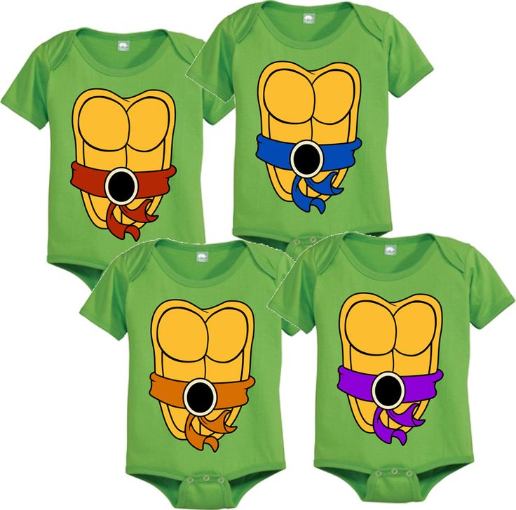 Teenage Mutant Ninja Turtles Green Costume Infant Baby Onesie Romper $15.95. If we gave a boy, Jim will insist one having these.