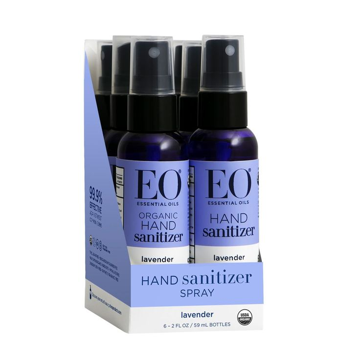 Hand Sanitizer Spray 6 Pack Lavender 6 Ct 2 Fl Oz Hand
