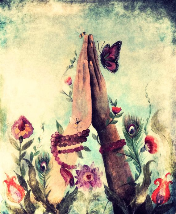 Namaste-Kunstdruck