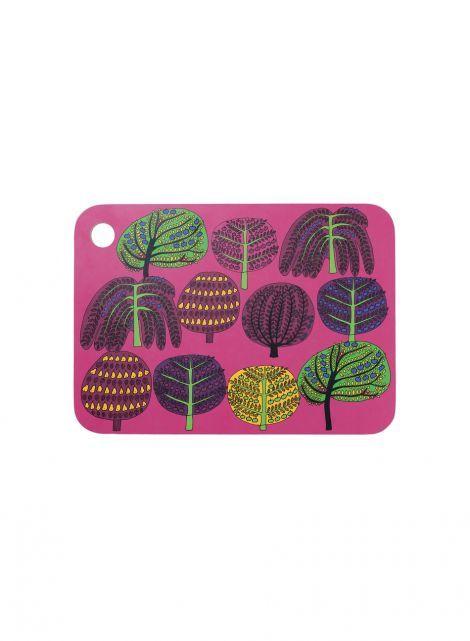 Isoisän puutarha -leikkuulauta (pinkki, violetti, vihreä)  Sisustustuotteet, Keittiö, Tarjottimet   Marimekko