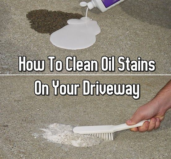 How To Clean Oil Stains On Your Driveway