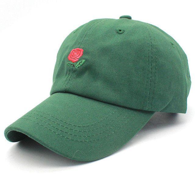 New Rose Dad Hat Drake Snapback Flower summer Embroidery Curved Summer Snapback Baseball Caps Women or Men Hat