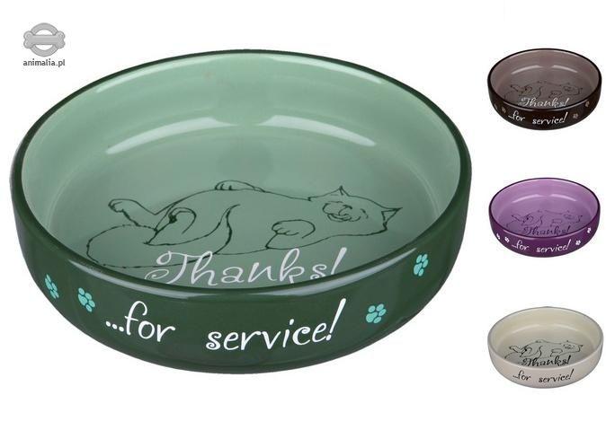 Zdjęcie Trixie Miska ceramiczna dla kota szeroka   0.3 l; śr. 15 cm