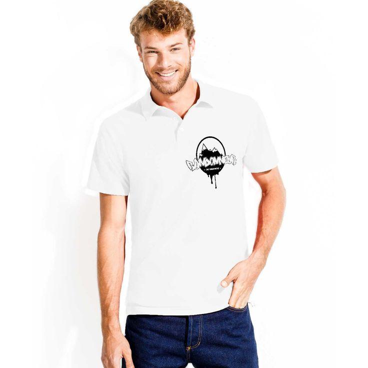#Polo blanc idéal pour aller en randonnée