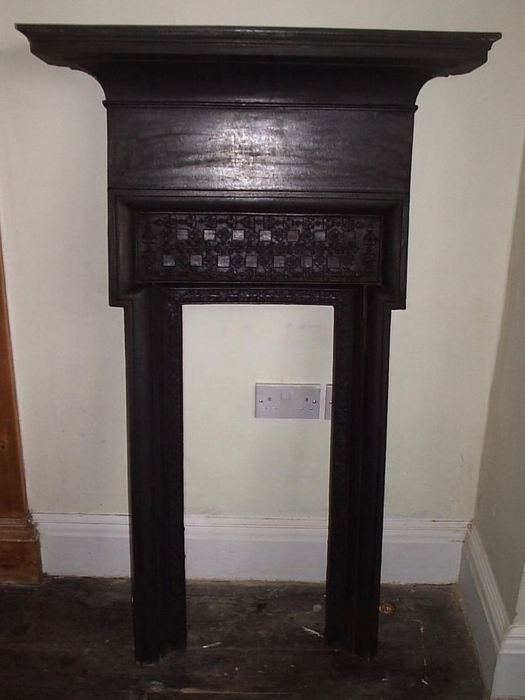 All In One Original Antique Early Edwardian (1903) Cast Iron Fireplace
