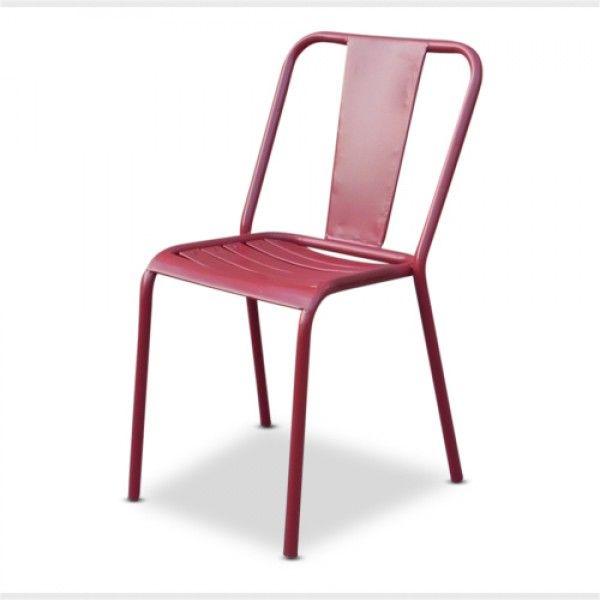 Red Café Chair   Modern Vintage Furniture   Loft
