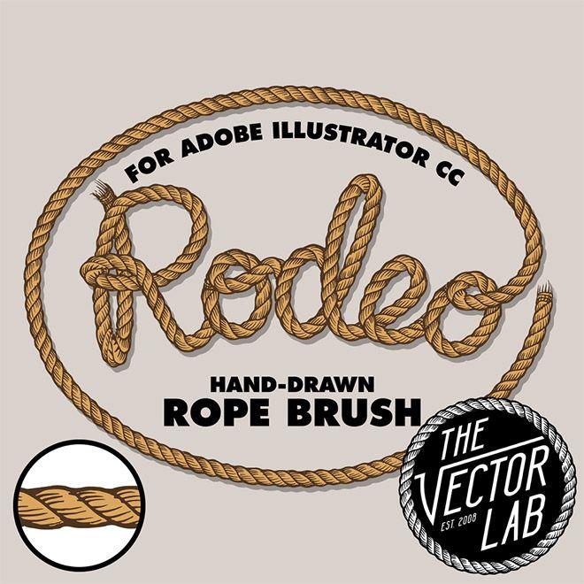 Rodeo: Hand Drawn Rope Brush