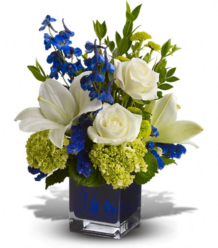 Birthday - Serenade In Blue - Flowerama Columbus - Columbus Florist - Same Day Flower Delivery