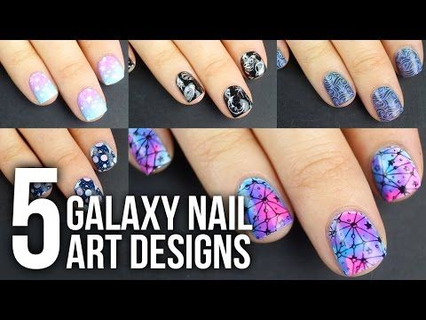 Mejores 60 imgenes de blue nail art designs tutorials and ideas 5 easy galaxy nail art designs diy tutorial kelli marissa http47beautynailsindexpnail art designs products i am so excited about todays solutioingenieria Images