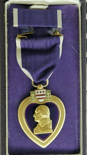 This board is for purple  but this is a Purple Heart Medal.  It is given to those wounded in battle defending our country. It deserves to be recognized.