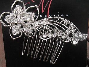 #Rhinestone#diamonds#metal#shiny#Decorative#Comb#wedding#Christmas#party#flower#design#