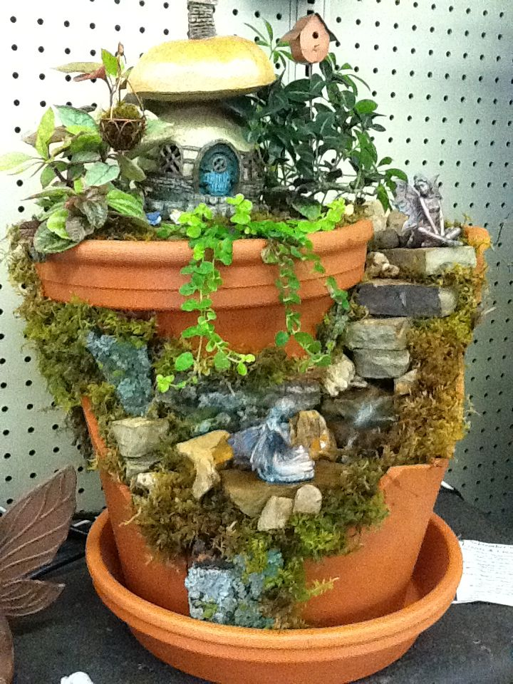 Water Feature Designed By Kristin Middleton Broken Pot