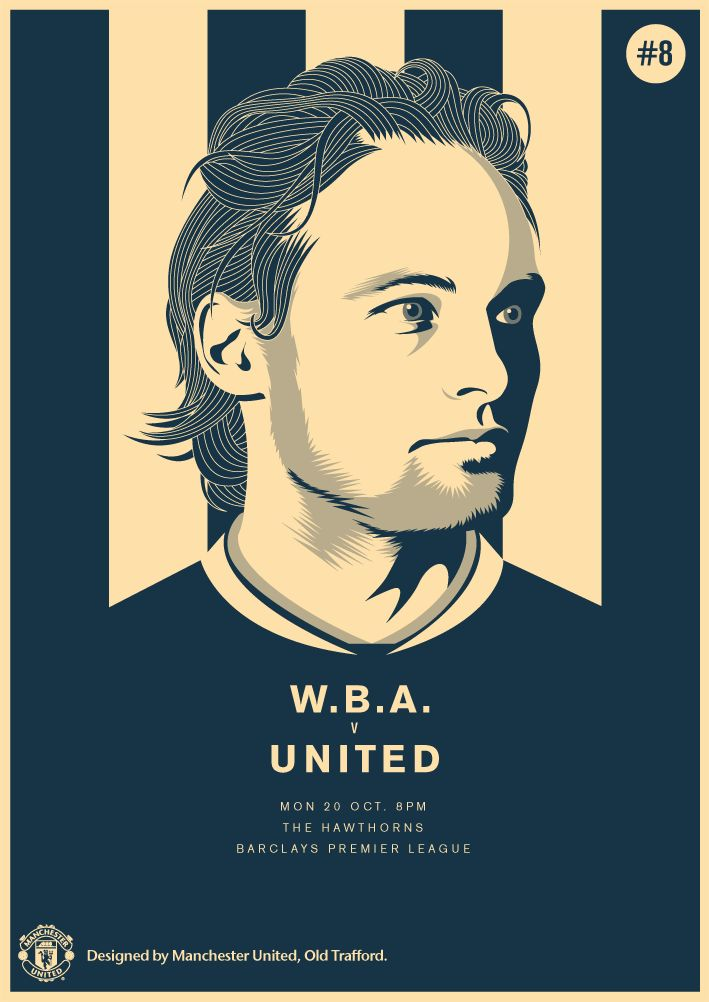 Match poster. West Bromwich Albion vs Manchester United, 20 October 2014. Designed by @manutd.
