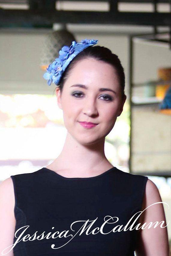 Bespoke DESIGN for hat / fascinator blue for wedding /