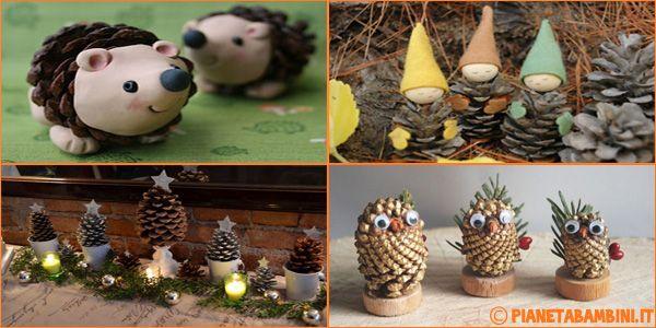 Abbiamo selezionato 10 bellissimi lavoretti di Natale con le pigne per bambini che poi potranno essere usati come decorazioni di alberi, case e aule