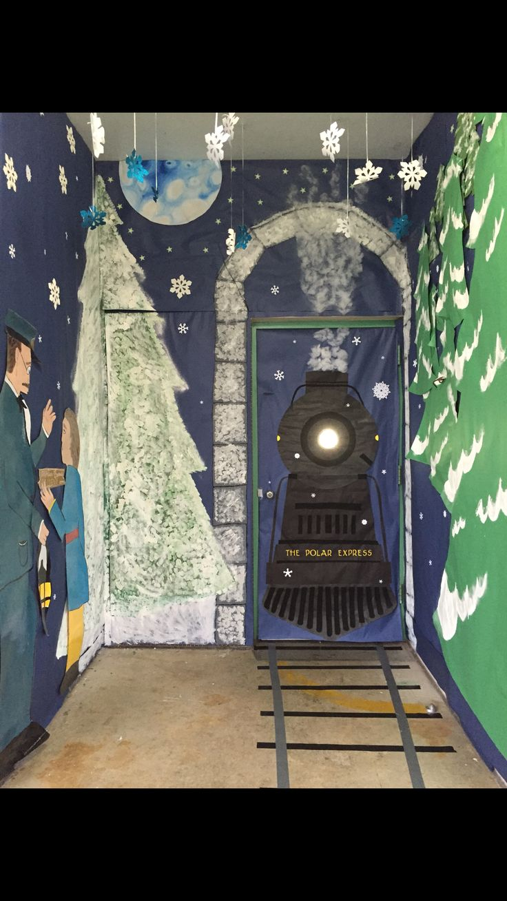 The Polar Express door decor.