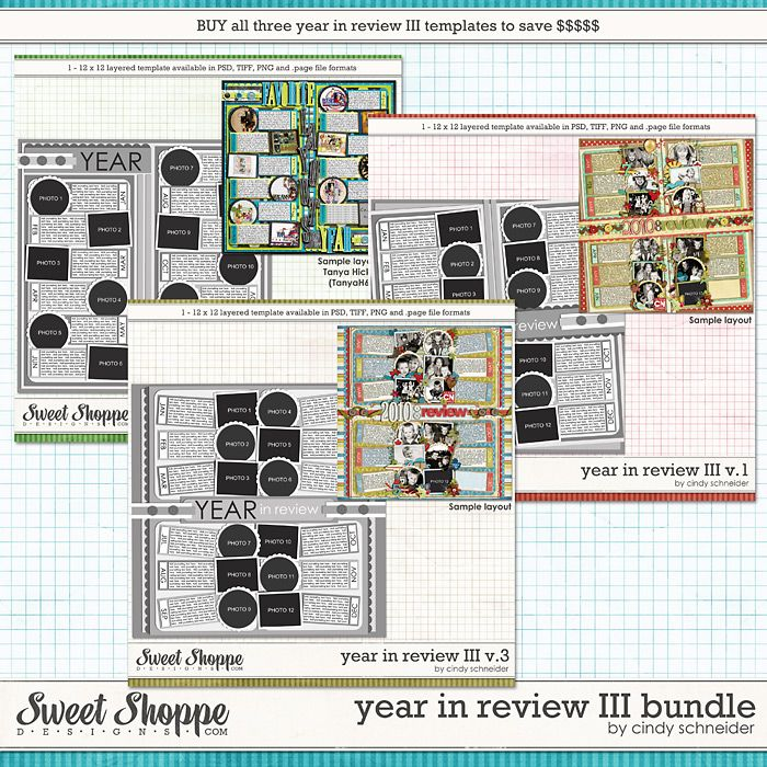 Cindy's Layered Templates - Year in Review III Bundle by Cindy Schneider