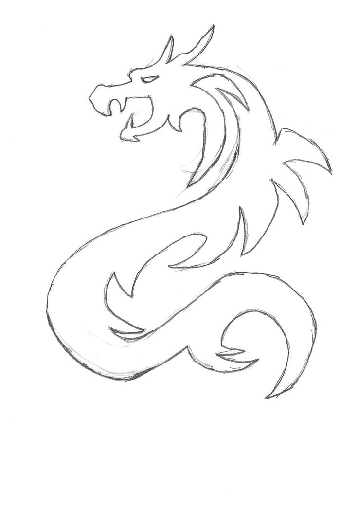 Simple Dragon Drawing: Images For > Simple Dragon Sketches