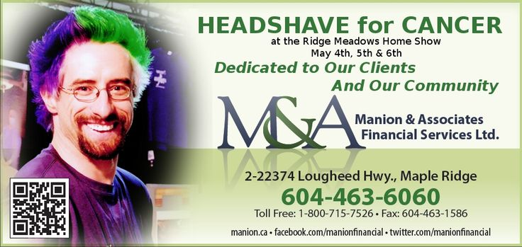 Headshave for Cancer at the Ridge Meadows Home Show