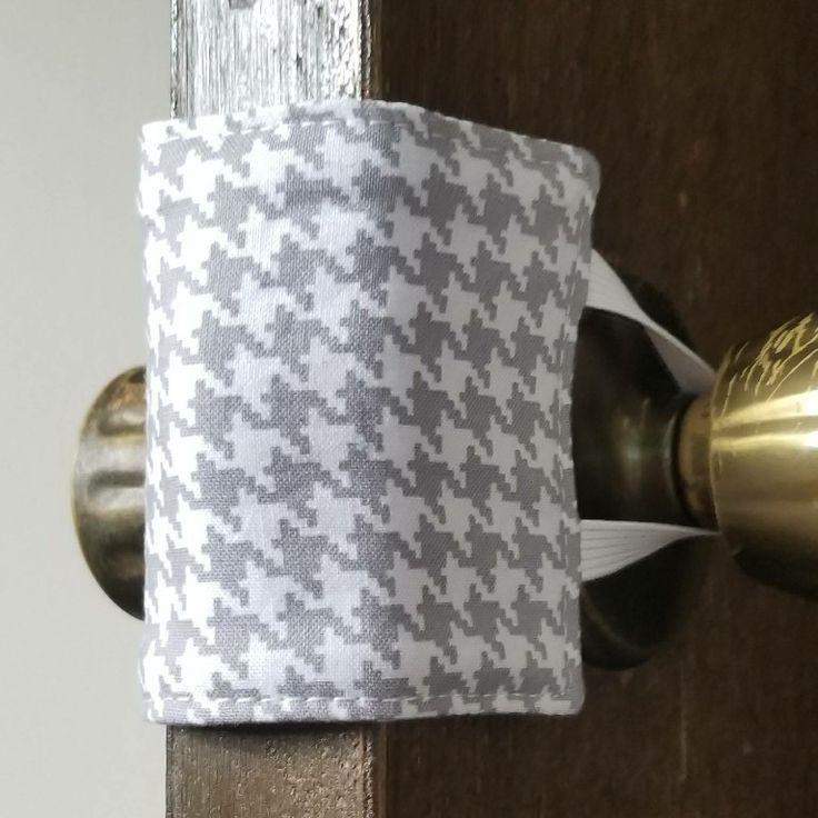 I wanted to share one of my favorite door jammers to my #etsy shop: Gray Door Jammer, Gray houndstooth, door silencer, door latch cover, door muffler, no slam door, teacher classroom, quiet door, nursery #gray #babyshower #christmas #graydoorjammer #grayhoundstooth #doorsilencer #doorlatchcover #doormuffler #norskeneedles http://etsy.me/2jl8pl5