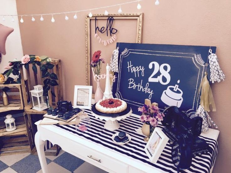 Birthday dessert table decoration