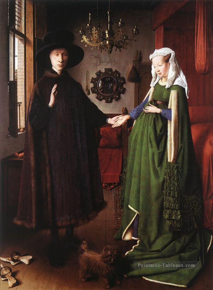 Portrait of Giovanni Arnolfini and his Wife Renaissance Jan van Eyck Peintures à l'huile