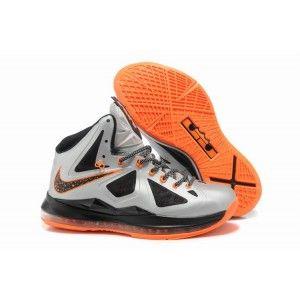 Nike Lebron 10 Orange Silver