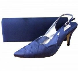 Navy Evening Shoes. Navy Shoes and Matching Bags