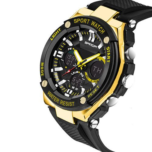 2016 new dual movement watch outdoor multifunction electronic watch men waterproof sport watches