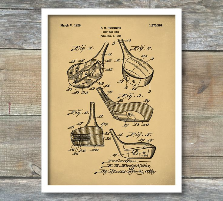 Patent Print, Golf Fairway Club Head Patent Poster, Golf Gift, Sports Art,
