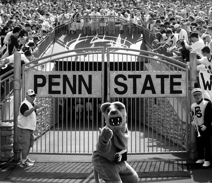 Nittany Lion at the south endzone gates of Beaver Stadium at the Penn State v. Indiana State game on 9/3/11