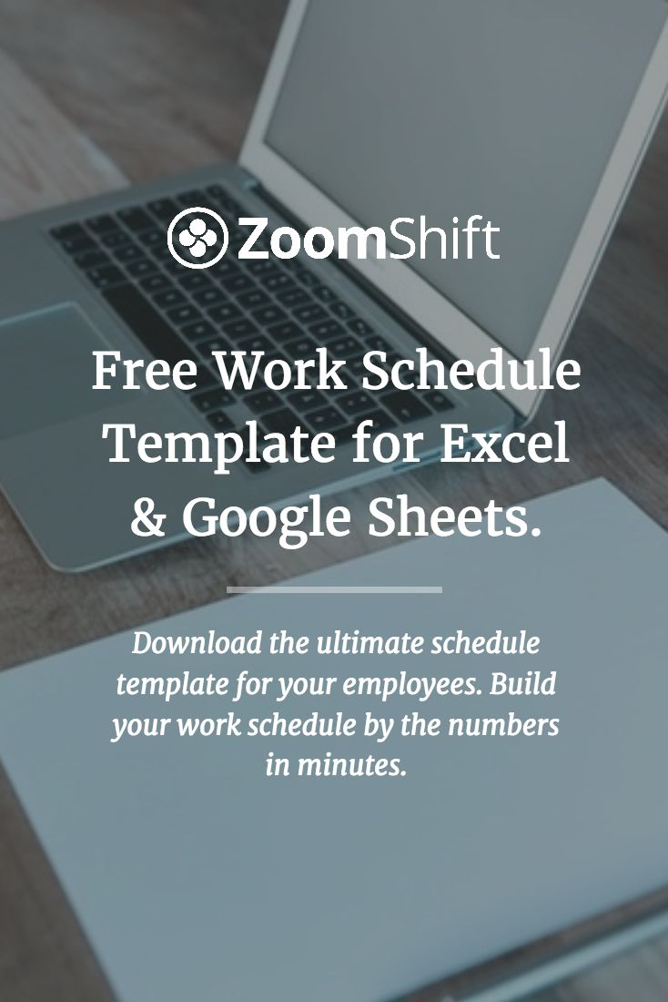 free work schedule template for excel and google sheets perfect for scheduling employees at cafes coffee shops retail stores and restauran