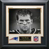 Tom Brady Signed New England Patriots Photo.