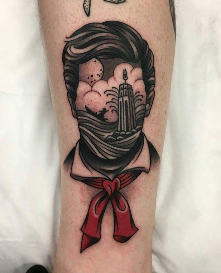 """Bioshock infinite, Booker - WA Ink Tattoo (@wa_ink_tattoo) on Instagram: """"#tattoo by Aaron Ashworth @aj_tattoo"""""""