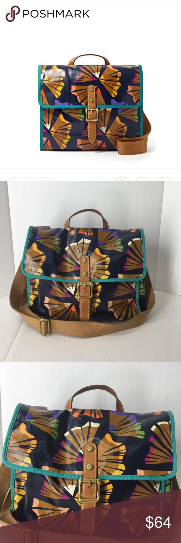 Fossil pencil shavings crossbody satchel bag Great condition! Only wear is on the handle where there is come cracking and fraying. Inside is super clean no stains or tears. Super cute pencil shaving print. Colorful and vibrant glossed canvas finish. Medium sized bag big enough to fit everything you need. Zipper compartments inside and on the back. Latch closure in the front. Grab this cutie before I keep it ! Fossil Bags Crossbody Bags