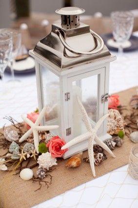 D coration de table sur le th me de la mer lanterne embellie mariage rui - Decoration table mer ...