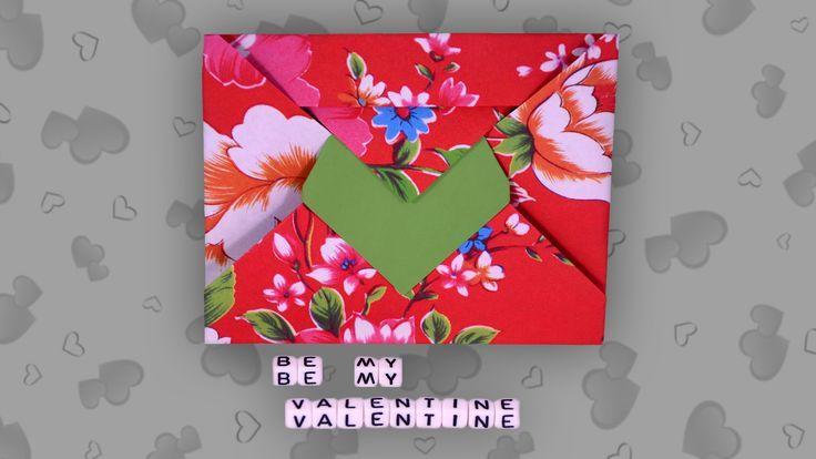 Origami Herz (Umschlag): Heart Envelope - Faltanleitung (Live erklärt)