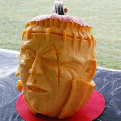 Frankenstein submitted by Michael W.  Edmond, OK.  2011 Pumpkin-Carving Contest. | thisoldhouse.com