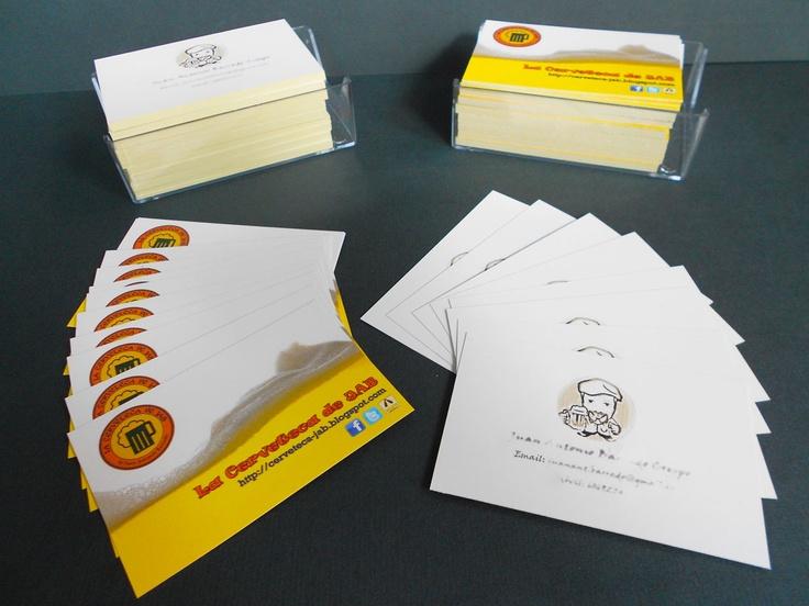 Impresión digital de 250 tarjetas de visita a doble cara.  Ver oferta: http://elestudio.com/tarjetas/