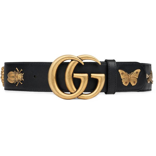 cbd6b7294e3 Gucci Leather belt with animal studs ( 835) ❤ liked on Polyvore featuring  accessories