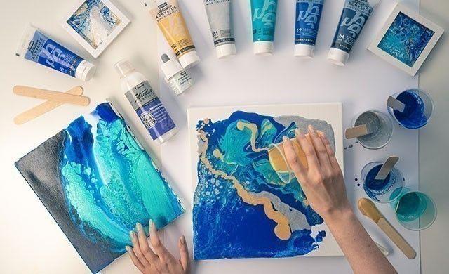 Comment Debuter Le Pouring Cultura Com Apprendre La Peinture