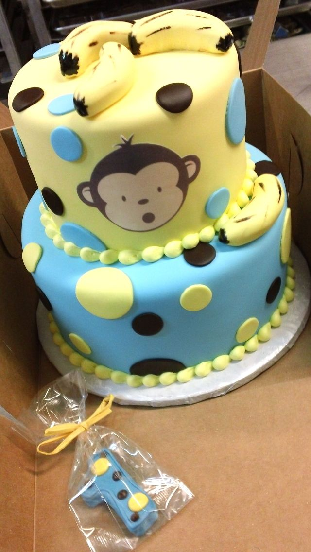1000 images about cake on pinterest bee cakes cake ball and cakes - Monkey baby shower cakes for boys ...