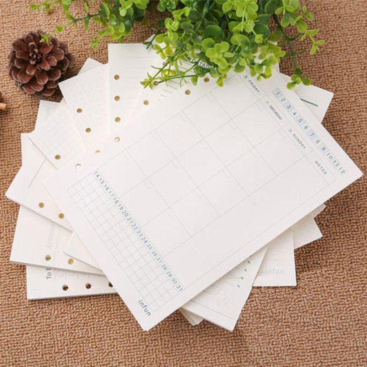 Ноутбук документы A5 A6 страниц планировщик наполнитель бумаги внутри страницы еженедельный ежемесячно план список дел корнелл соответствующие Filofax Kikkik