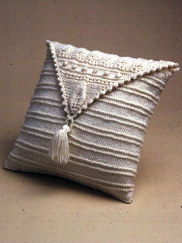 Aran Leaf Pillow   Yarn   Free Knitting Patterns   Crochet Patterns   Yarnspirations
