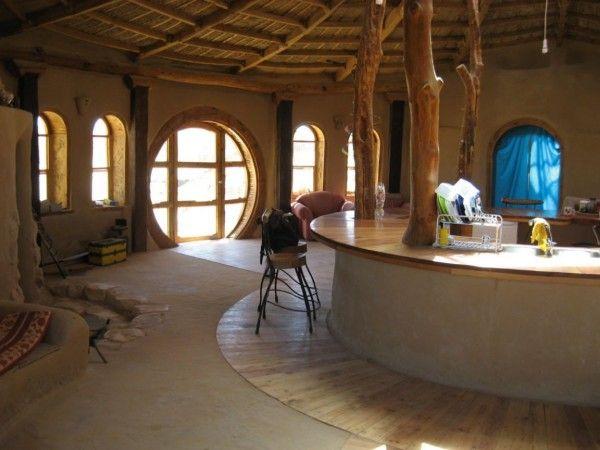Diseño circular para el centro de la casa.