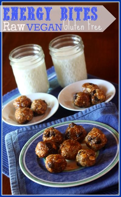 Vegan Energy Bites - A perfect healthy snack or breakfast treat! Packed with protein and omega's!