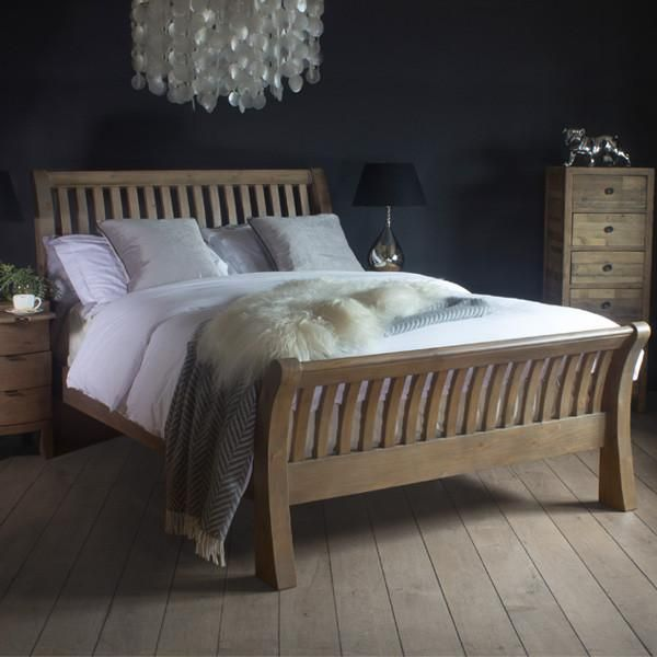 Winchester Rustic Wooden Bed And Blanket Box In Bedroom Luxury Bedroom Furniture Wooden Bedroom Furniture Wood Bedroom Furniture